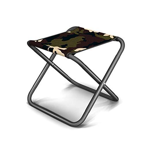 Folding Stool Tragbarer Klappbarer Campinghocker, Mini Kleiner Klappstuhl Angelhocker Geeignet Für Reisen/Wandern/Strand/Garten/Outdoor-aktivitäten (31x29.9x31cm) Camouflage01