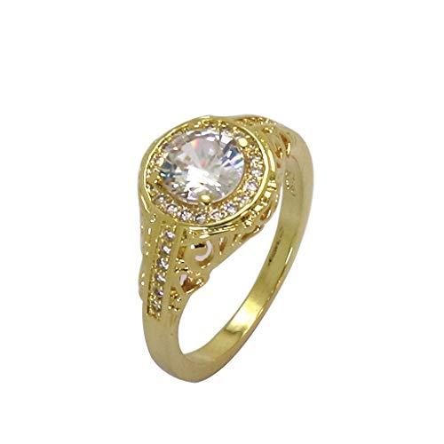 Floweworld Luxus Ring Für Damen Diamant Ring Frauen Liebe Textur Mode Ring Rhodiniert Boutique Ring Schmuck Zubehör Geschenk