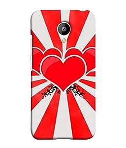 PrintVisa Designer Back Case Cover for Meizu M3 (Arts Back Background Sunburst Passionate Valentine Beautiful Emotions)