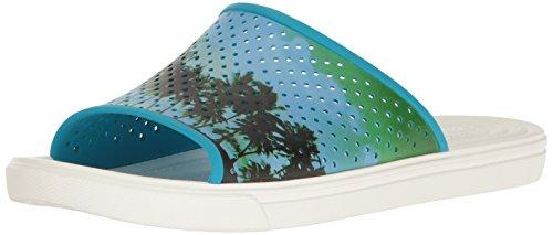 Crocs CitiLane Roka Tropical Slide M Electric Blue/White