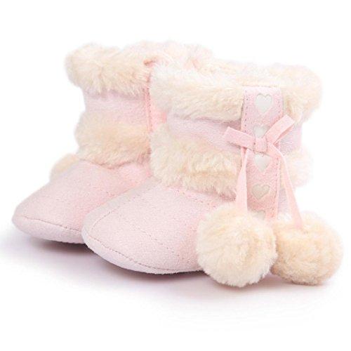 Zapatos bebe invierno, Amlaiworld Botines De Bebé Niña niño Botas de nieve Calzado recién nacido cálido (11 / 0-6Mes, Rosado)