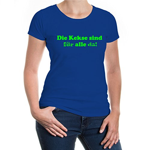 buXsbaum® Girlie T-Shirt Die Kekse sind alle Royal-Neongreen