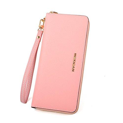 Le donne borse cartella cerniera portafoglio sezione semplice frizione 's lungo portafoglio donne' ( colore : Blu ) Rosa