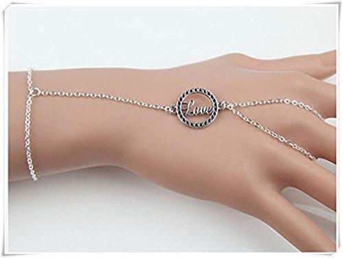 Buchstabe Love rund Loch Zubehör lang Armband