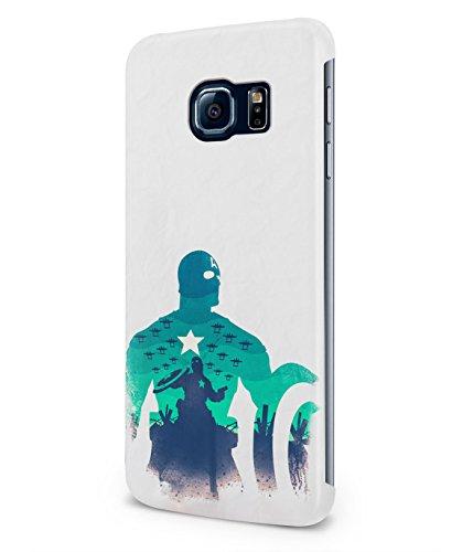 Captain America The Avenger Shield Marvel Superhero Plastic Snap-On Case Cover Shell For Samsung Galaxy S6 EDGE