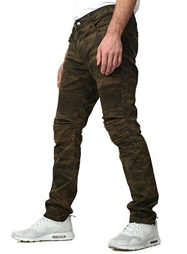 Redbridge Jeans Uomo SOLDIER Vestibilità Slim Taglio Mimetico Sguardo Distrutto camouflage