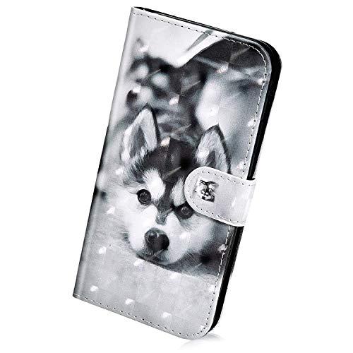 Creme-kamera-tasche (Herbests Kompatibel mit iPhone XS/iPhone X Hülle Klapphülle Leder Tasche Flip Schutzhülle Wallet Handyhülle 3D Bunt Muster Glänzend Bling Glitzer Brieftasche Handytasche Case,schwarz Hund)
