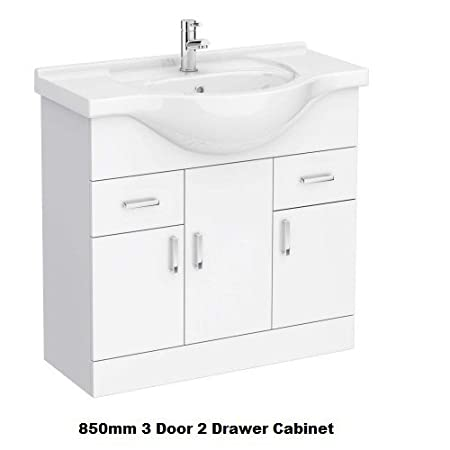 gloss gloss modular bathroom. Bathroom Vanity High Gloss Modular Basin Sink Storage 450 500 600 850 1000 White: Amazon.co.uk: Kitchen \u0026 Home