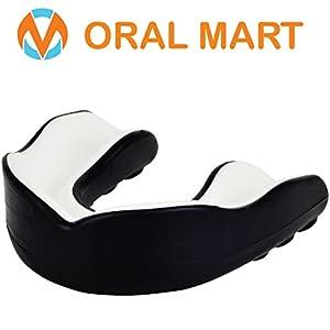 Oral Mart Sport Zahnschutz/Mundschutz für Kinder/Erwachsene (8 Farben) – BPA frei Sport Zahnschutz für Karate, Flagge Fußball, Kampfsport, Rugby, Boxen (mit Vented Case)