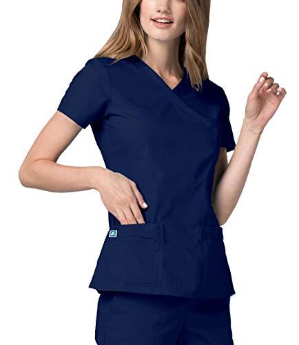 Adar uniforms uniformi mediche camice da donna parte superiore infermiera ospedale da lavoro - 2638 colore: nvy | dimensione: m