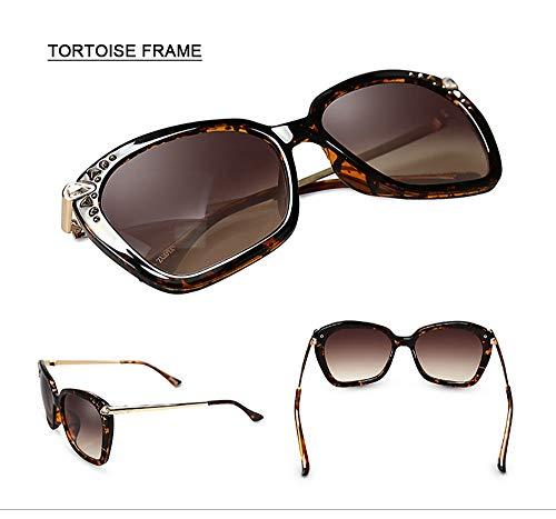 LKVNHP Acetat Mode Polarisierte Sonnenbrille Für Frauen Top Qualität Mädchen Dame Marke Schmetterling Strass Fahren SonnenbrilleBraun