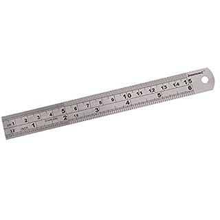 Silverline MT65 Steel Rule, 150 mm