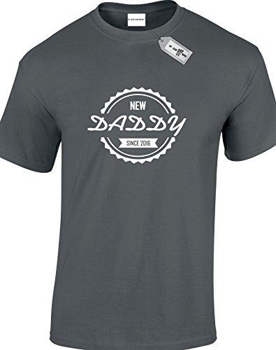 DADDY SINCE personalisierbar mit jedem Jahr der Ihrer Wahl. Herren Unisex Erwachsene T-Shirts. KOSTENLOSE LIEFERUNG IM LIEFERUMFANG ENTHALTEN. Schwarz - Dunkelgrau