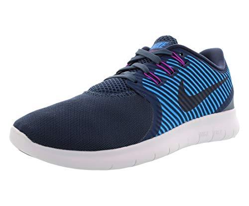 Nike Free RN Commuter Damen Laufschuhe, (Squadron Blau/Heritage Cyan/Hyper Violett/Dunkel Obsidian/Weiß), 40 EU