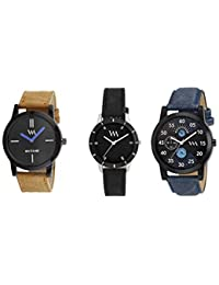 Watch Me Gift Combo Set For Him/Watches For Men/Watches For Boys (watches 3 Combo/watches 2 Combo) WMC-002-BR-AWC... - B0778FPFNT