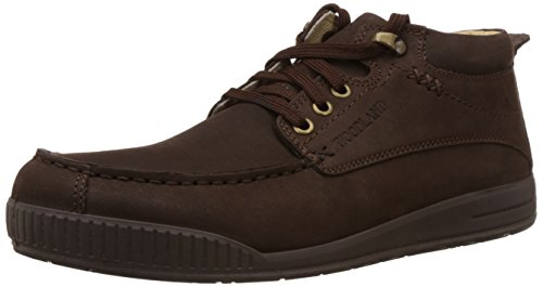 Woodland Men's Dark Brown Leather Sneakers – 5 UK/India (39 EU) 412tmS10phL
