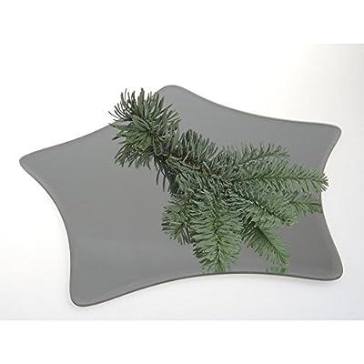 Tischspiegel, Spiegelplatte, Deko Spiegel STERN, 25x24 cm, Glas, Sandra Rich