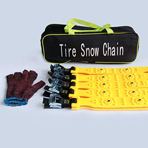 Comomingo 10pcs Mini Plastic Winter Tires Ruote Catene da Neve Anti-Skid Autocross Outdoo