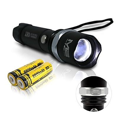 Oramics Swat Cree LED Taschenlampe mit Akku + inkl. Ladegerät und Zoomfunktion von Oramics - Outdoor Shop
