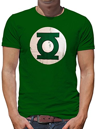 TLM Green Lantern Logo T-Shirt Herren XS Flaschengrün (Black Green Lantern Kostüme)