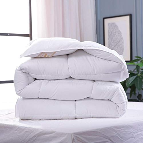 Alear Four Seasons Available Alternative Duvet Hypoallergene Plüsch-Microfaser-Bettdecke Winter Warm Verdicken@220x240【4.5kg】_Weiß