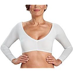 Kasheer ShapeTop | Figurformende Shapewear Damen | schlankere Oberarme in ärmellosen Kleidern | Perfekter Shaping-Effekt | Schwarz/Weiß