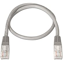 NanoCable 10.20.0101 - Cable de red Ethernet RJ45 Cat.5e UTP AWG24, Gris, latiguillo de 1mts