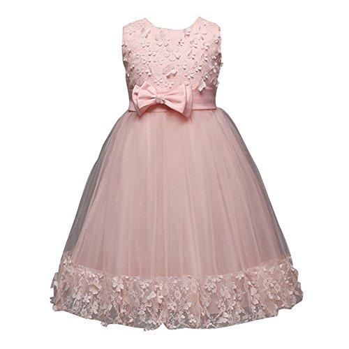 leid für Kinder Geburtstags Kleid Blumenmädchen Party Pailletten 3-10 Jahre ()