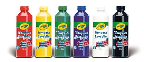 CRAYOLA 3926 - Giochi ricreativi, Confezione 6 Bottiglie di Pittura Lavabile,  6 Bottiglie di Vernice Lavabile, 237 ml