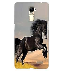ColourCraft Lovely Horse Design Back Case Cover for OPPO R7