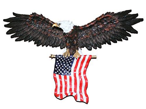 MASCARELLO Grande 78,7 cm American Bald Eagle Skulptur Patriotischer American Eagle Wall Skulptur Statue Office Home Decor Geschenk -