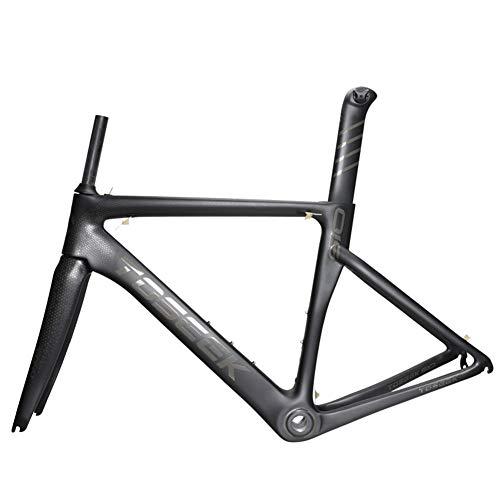 T800 Carbon Rennrad Rahmen Vollcarbon Fahrradrahmen 700C Carbon Rahmen Mit Sattelrohr Vordergabel Radfahren Fahrradrahmenset Super Light 1200g,48cm/XS - Rennrad 48cm