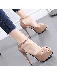 Amazon.es  tacones muy altos - Zapatos para mujer   Zapatos  Zapatos ... 7fd23ceb375c