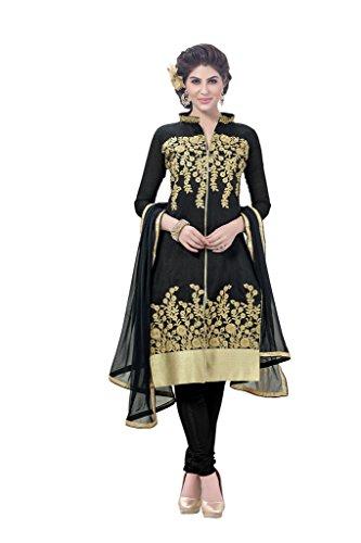 DnVeens Women Chanderi Embroidery Unstiched Salwar Kameez Suit Dress Material