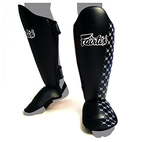 Fairtex Super Comfort Instep Shin Guard, black, L