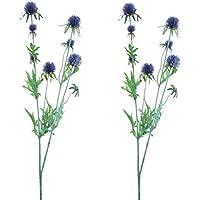ColoryVertical Set de Flores Cardos, Tela, Azul, 4x12x71 cm, 2 Unidades