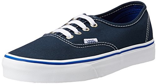 Vans Unisex Authentic Midnight Navy and True White Sneakers - 7 UK/India (40.5 EU)