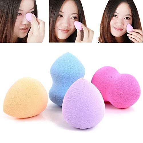 Bobopai 4pc Pro Beauty Flawless Makeup Blender Foundation Puff Multi Shape Sponges Color by Random 1080p Multi-system