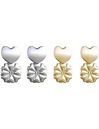 Topes para pendientes MagicBax de Zooarts, hipoalergénicos, se adaptan a todos los aretes y equilibran el balance de los pendientes de adelante hacia atrás
