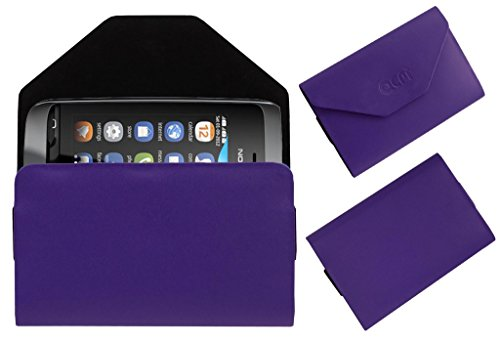 Acm Premium Pouch Case For Nokia Asha 310 Flip Flap Cover Holder Purple  available at amazon for Rs.179