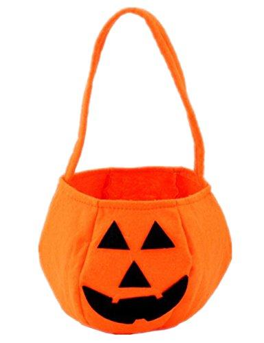 Candy Halloween Kostüm Zucker (Linshe Halloween Deko Kürbisbeutel / Kürbis Tasche Kinder Süßigkeiten Handtaschen Lustige Geschenk Tasche Lovely Candy Bag for Kids - 5)