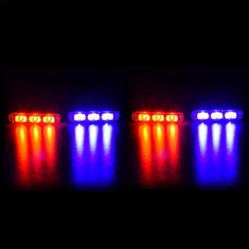1 Akzent (Godya LED Streifen, Kfz-Licht & Beleuchtungszubehör Akzent-Off-Road-Beleuchtung, 1-for-4 LED Car Polizeilichter)