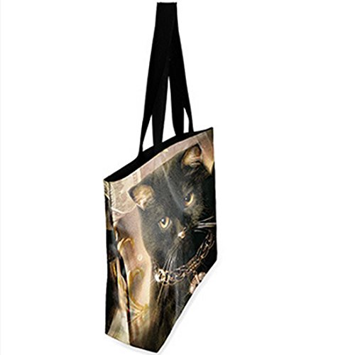 Belsen, Borsa a spalla donna multicolore Devil Taglia unica Black cat