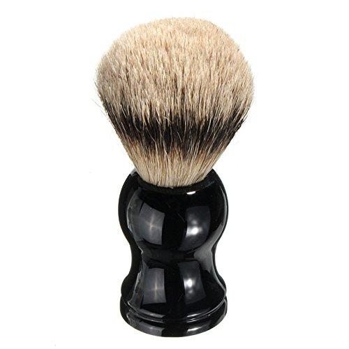 Bluelover Homme Badger Poils Poils Brosse Visage Barbier Outil Noir Manche Résine