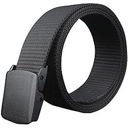 Cintur/ón el/ástico de 3,8 cm de ancho para hombres con hebilla ajustable de alta resistencia