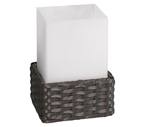 Dehner Solarleuchte Rattan Cube, ca. 21 x 11.6 x 11.6 cm