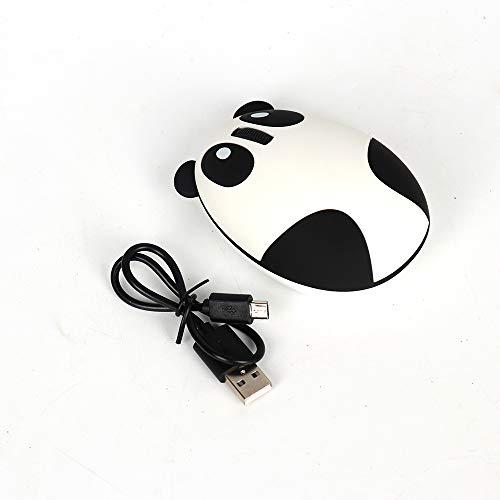 YUHUANG Drahtlose Maus, ergonomische 2,4 GHz Wireless-Computer-Maus wiederaufladbare optische Panda Form Notebook-Maus