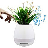 Envilean Wireless Bluetooth Music Flower Pot Speaker with LED Decoration Light