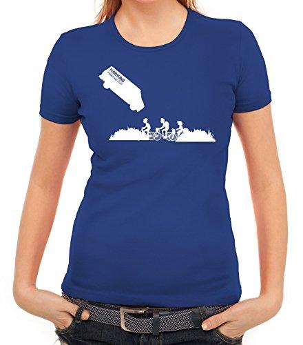 Mystery Serie Damen T-Shirt mit ST- Hawkins Van Motiv von ShirtStreet Royal Blau