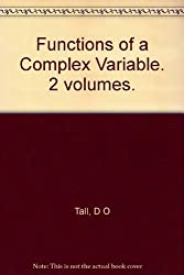 Functions of a Complex Variable. 2 volumes.